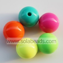 Top Selling 24mm Acrylic Crystal Round Gumball Tiny beads