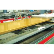 PVC kayu kabinet papan ekstrusi baris
