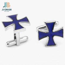 Высокое качество оптовые товары цинкового сплава крест Запонки для Промотирования