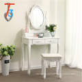 modern wooden dressing table stools mirror with storage