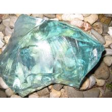 Roches de verre concassé