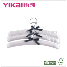 Set of 3pcs pure white satin padded hanger