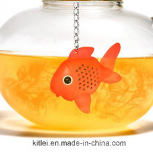 Corlorful Silicone Tea Infuser Strainer Fish Shape Loose Leaf Filter Silicone Infuser