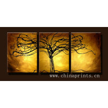 Xiamen Abstract Multipanel Tree Oil Painting for Decoration