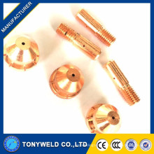 China manufacturer xingtai160 plasma cutting electrode and nozzle