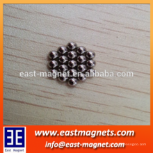 china industrial supply different size magnet ball ni coated for toy/small&big ball strong magnet for sale