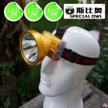 2W 3W 5W LED Lampe frontale en alliage d'aluminium 1 * 5V500mAh USB Chargeur mobile 2PCS Batterie lithium rechargeable, camping extérieur