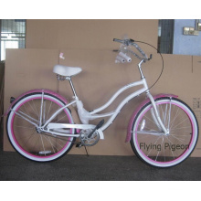 "Rear Factory Inner 3 Speed 26"" Beautiful Girl Beach Bicycle (FP-BCB-C041)"
