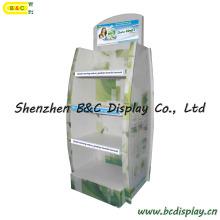 Kundenspezifische Pappwaren-Waren-Anzeige, Pappboden-Pop-Anzeige (B & C-A064)