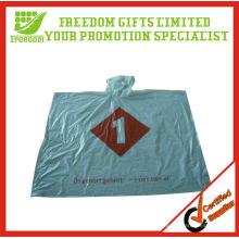Promotional Logo Printed Top Quality Plastic Rain Poncho