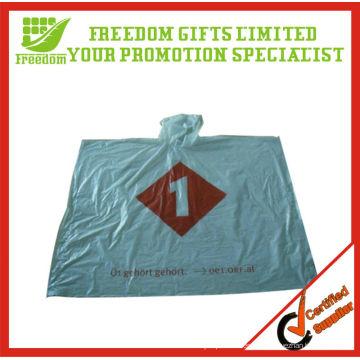 Werbe-Logo gedruckt Top-Qualität Kunststoff Regen Poncho