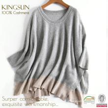 KS-037A Camisola de lã de cashmere de inverno, camisola de malha de lã e cashmere Mulheres 2017