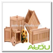 Conjunto de plantador de madeira Audu / caixas de plantador de madeira / vaso de madeira