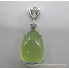 Joyería de moda colgante de plata de Prehnita (GP01298)