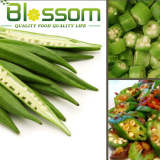 New crop whole IQF frozen okra