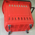 Rolling Basket Supermarket Shopping Handle Basket Cart