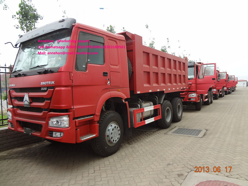 Red 18m3 Dump Truck Howo7 3