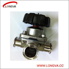 Stainless Steel Sanitary 3 Way Diaphragm Valve