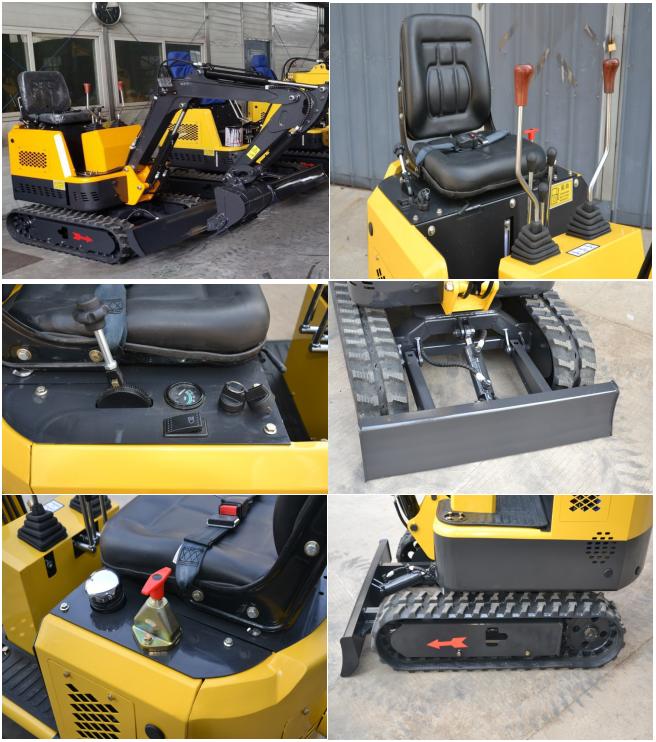 details of mini bagger excavator