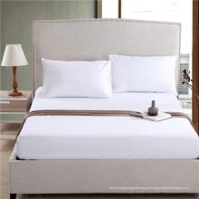 Sábana ajustable sábana blanca lisa más popular (WSFI-2016025)