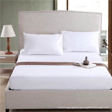 Most Popular Bed Linen Plain White Fitted Sheet (WSFI-2016025)