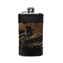 Tourbon Promotion 600D Camo cover 4oz stainless steel mini wine bottle favors hip flask