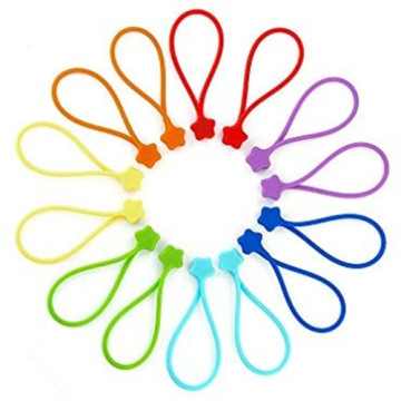 Custom Reusable Silicone Strong Magnetic Cable Tie