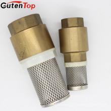 """GUTENTOP 1/2 """"Válvula de mola em latão em linha de latão Válvula de retenção vertical (Válvula de pé)"""