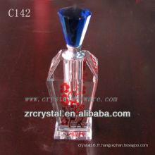Belle bouteille de parfum en cristal C142