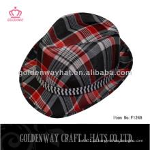 Chapéu de chapéu de fedora de xadrez promocional barato barato