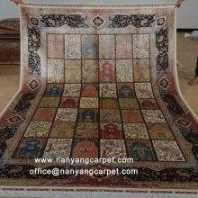 6.56'x9.84' Garden Design Handwoven Silk Persian Qum Rug