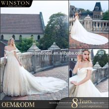 Venta al por mayor de la fábrica de China de alta final vestido de boda al por mayor guanghzou
