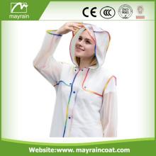 Ladies Fashion PVC Long Outdoor Jacket