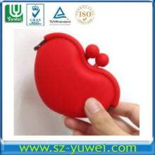 EN71 cheapest round silicone rubber coin purse silicone wallet