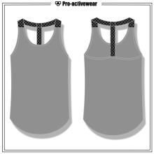 Großhandelsgewohnheit Frauen Breathable Eignung-Kleidungs-Gymnastik-Trägershirt