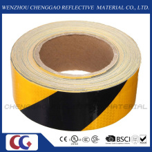 Black & Yellow Stripe Reflective Hazard Self Adhesive Tape (C3500-S)