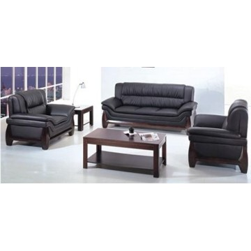 Modern Leather Sofa with Finish Legs