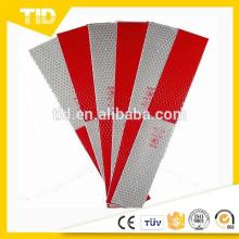 Autocollants de bande rouge blanc 2x12 de sécurité réfléchissante pour des remorques