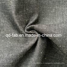 Tissu en jersey de coton / toile de lin teintée (QF13-0766)