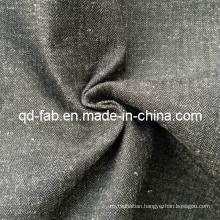 Cotton/Linen Yarn Dyed Shirting Fabric (QF13-0766)
