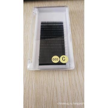 Оптовая продажа Корейского шелка PBT Накладные ресницы Искусственная норка Индивидуальные ресницы Private Label объемные ресницы