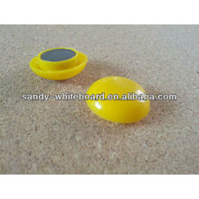 Botão magnético plástico, ímã revestido plástico, botão magnético redondo, acessórios do whiteboard, 30mm XD-PJ202-1