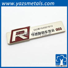 metal name plate for bicycle club members