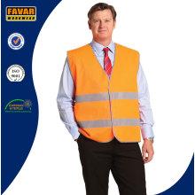 100% Polyester Hi Vis Reflective Tape Safety Vest