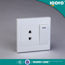 Igoto British Style D2016-1 1 Gang 1 Way Switch y 2 Pin Socket