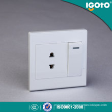 Igoto British Style D2016-1 1 Gang 1 Way Switch and 2 Pin Socket