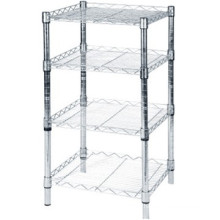 ISO&CE approved 4 Tiers Heavy Duty Chrome Wire Shelf