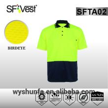 Segurança t-shirt alta visibilidade polo camisa de segurança workwear segurança vestuário alta visibilidade camisas secas fit tecido de poliéster