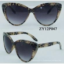 Модные пластиковые пользовательские солнцезащитные очки Zy12p2137