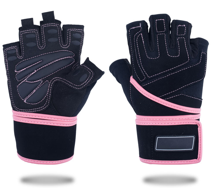 Pink Fitness Half Finger Gloves